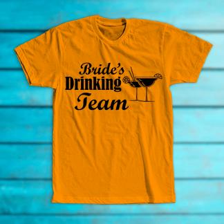 """Tricou """"Bride's drinking team"""""""